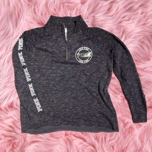 Pre loved Pink by Victoria's Secret gray sweater
